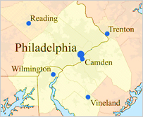 Map of Delaware Valley